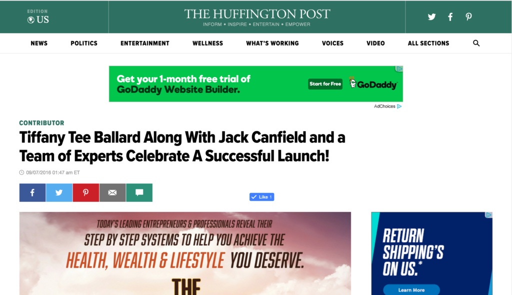 Huffington Post Screenshot